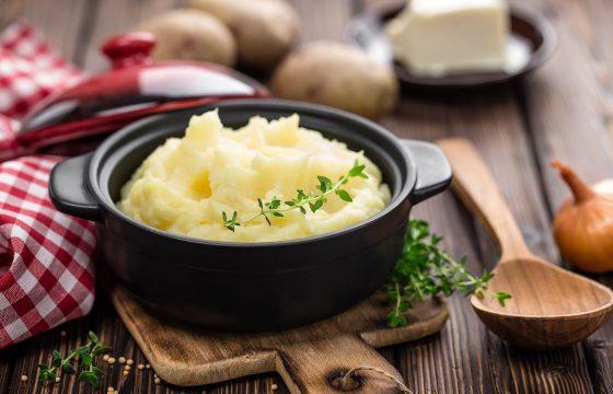 Ecrasée de pommes de terre à l'huile d'olive