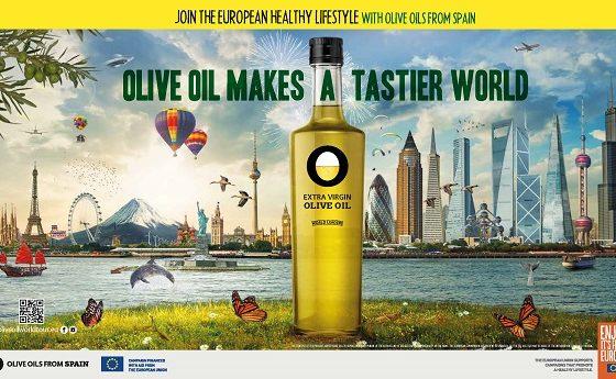 Campagne de promotion Olive Oil Makes a tastier World en Europe